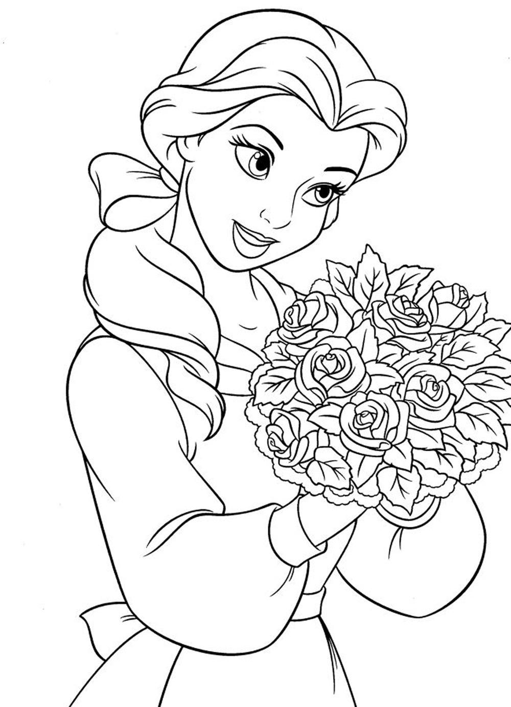 Coloriage Belle princesse Disney à imprimer sur COLORIAGES .info