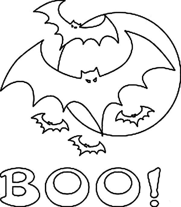 Coloriage Chauve-souris Halloween à imprimer