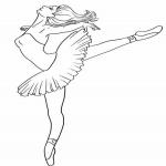 Coloriage Danseuse ballet