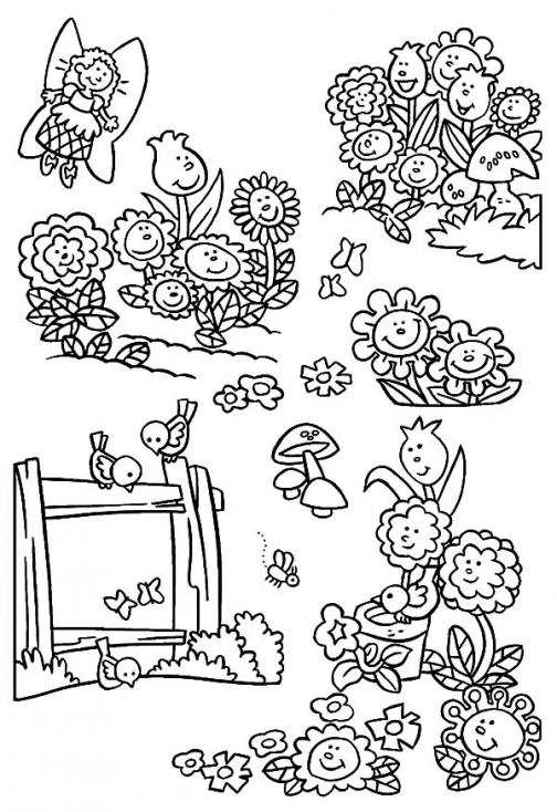 Coloriage Fleur de la nature à imprimer
