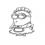 Coloriage Minion déguisé