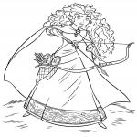 Rebelle Merida dessin à colorier