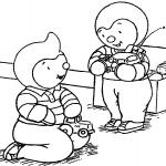 Tchoupi et son ami dessin à colorier