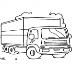 Coloriage Camion police