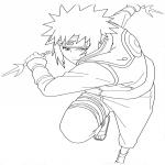 Coloriage Naruto attaque