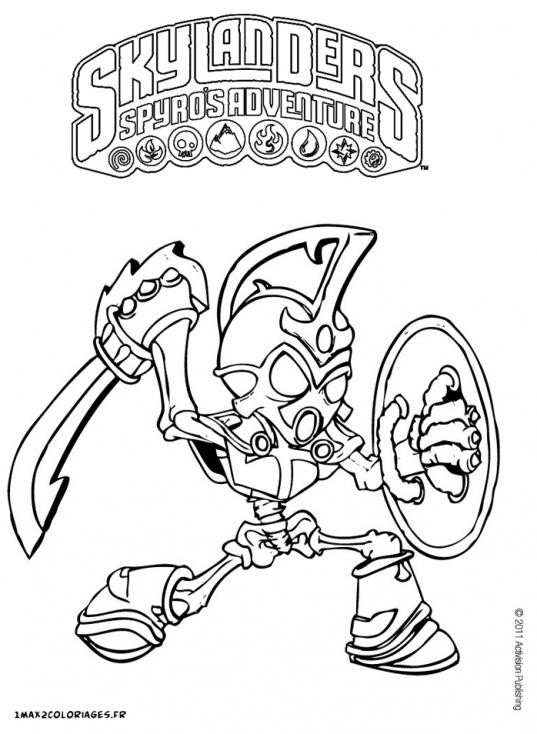 Coloriage Personnage Skylander à imprimer