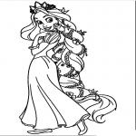 Raiponce princesse dessin à colorier