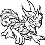 Coloriage Skylanders dragon