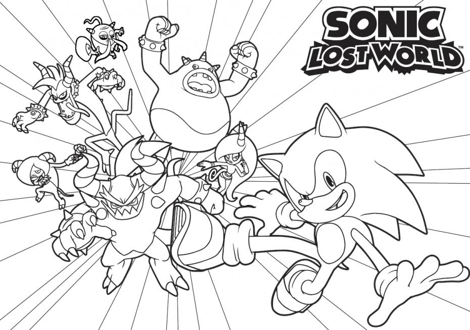 Coloriage Sonic personnage à imprimer