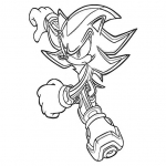 Coloriage Sonic super-héro