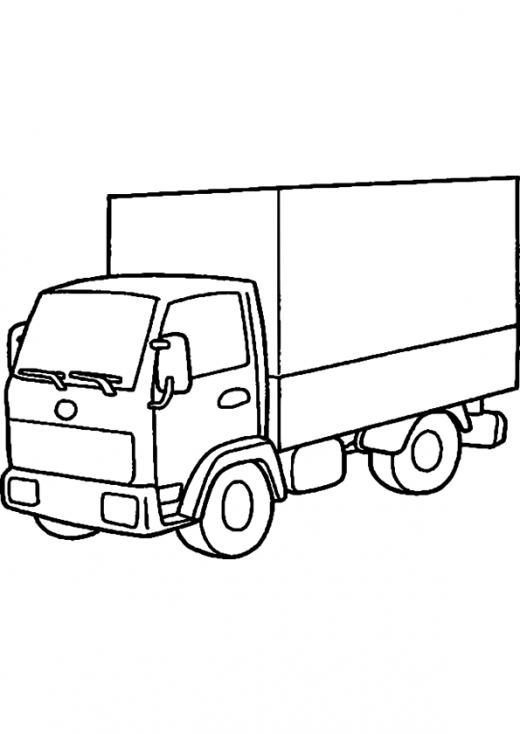 Coloriage Camion transport à imprimer