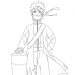 Coloriage Naruto fier
