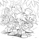 Sonic Boom Héro dessin à colorier