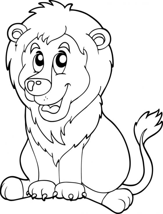 Coloriage Lion pour enfant à imprimer