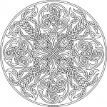 Coloriage Mandala chat