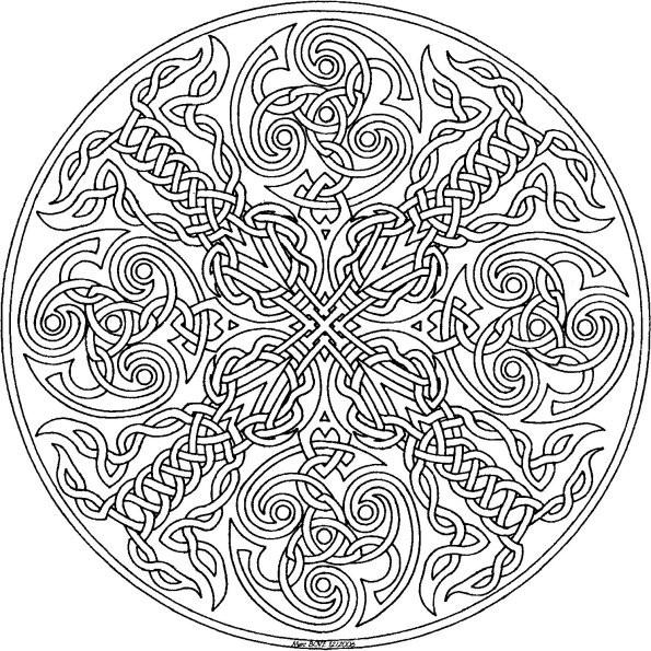 Coloriage Mandala chat u00e0 imprimer sur COLORIAGES .info