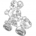 Coloriage Mario quad