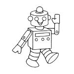 Coloriage Petit robot