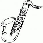 Trompette dessin à colorier