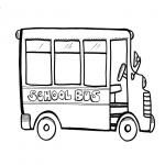 Coloriage Bus scolaire