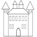 Coloriage Chateau facile