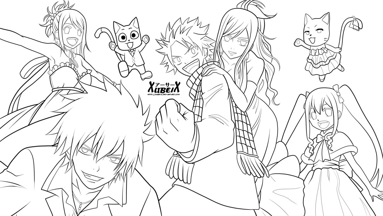 Coloriage Fairy Tail A Imprimer Sur Coloriages Info