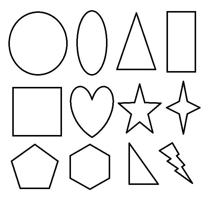 Coloriage formes pour enfants imprimer sur coloriages info - Dessin forme geometrique ...