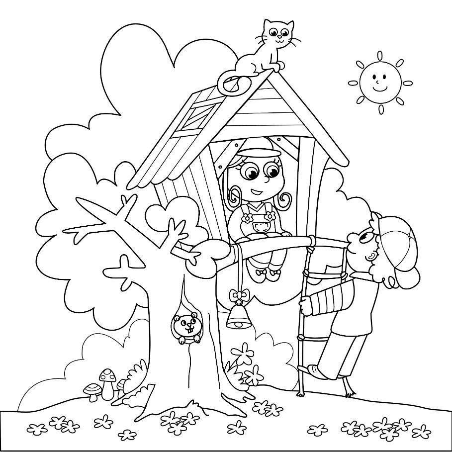 Coloriage jeu cabane imprimer sur coloriages info - Coloriage de cabane ...