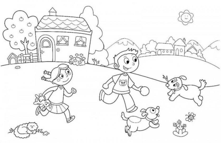 Coloriage Jeux enfants à imprimer