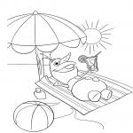 Olaf à la plage dessin à colorier