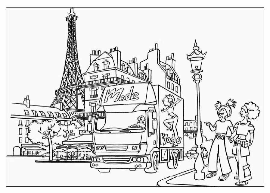 Coloriage A Imprimer Tour Eiffel.Coloriage Paris A Imprimer Sur Coloriages Info
