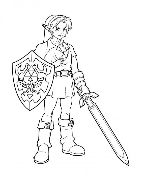 Coloriage Personnage Zelda à imprimer