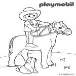 Coloriage Playmobil