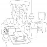 Coloriage Salon de maison
