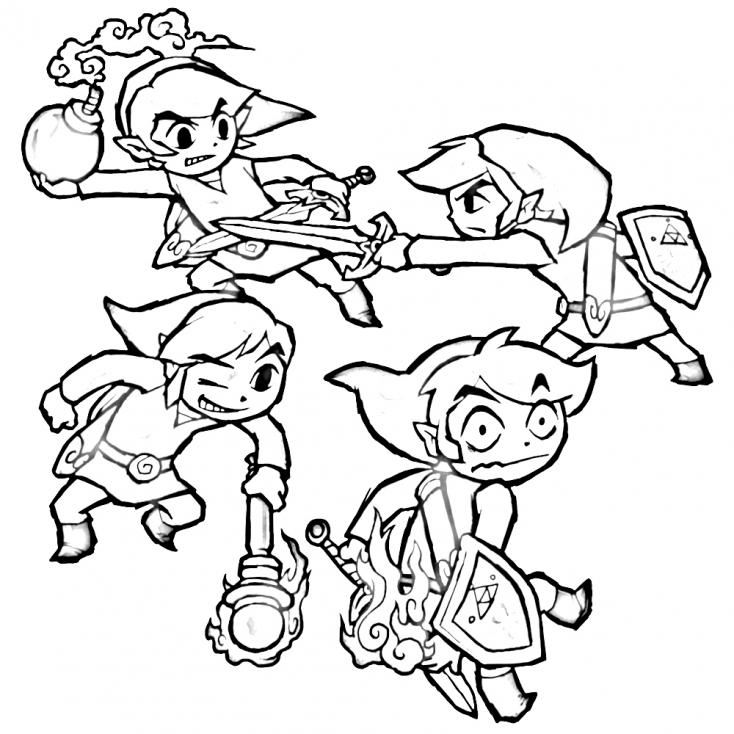 Coloriage Zelda Nintendo à imprimer