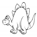 Coloriage Dinosaure marrant