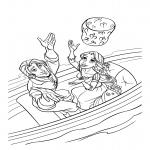 Flynn Rider et Raiponce dessin à colorier