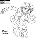 Coloriage Gogo Tomago