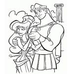 Coloriage Hercule et Megara