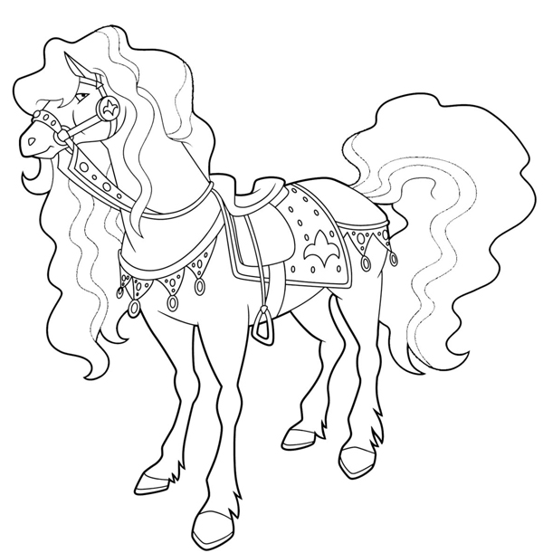 Coloriage horseland imprimer sur coloriages info - Dessin du ranch ...