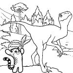 Coloriage Méchant dinosaure