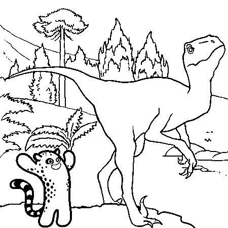 Coloriage Méchant dinosaure à imprimer