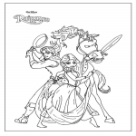 Coloriage Personnages Raiponce