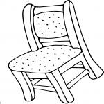 Coloriage Chaise de maison