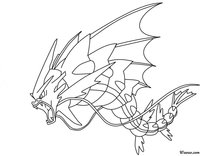 Coloriage Méga-Léviator Pokemon à imprimer