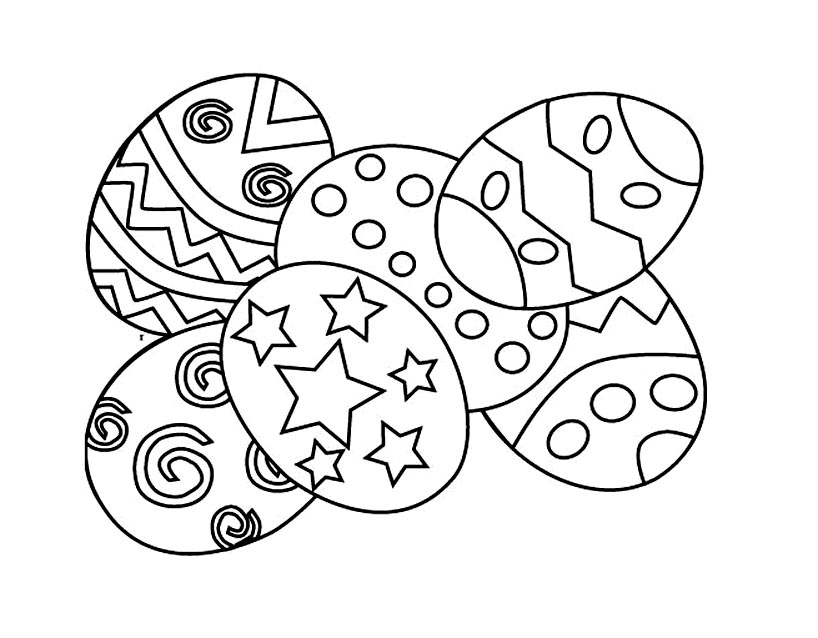 Coloriage Oeufs de Pâques à imprimer