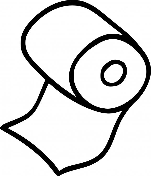 Coloriage Papier toilette à imprimer