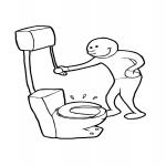 Toilette dessin à colorier