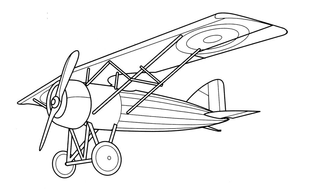 Coloriage Avion ancien à imprimer sur COLORIAGES .info