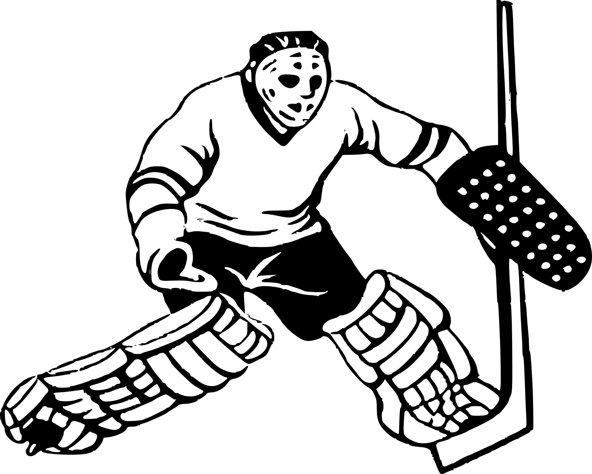 Coloriage Joueur De Hockey A Imprimer Sur Coloriages Info
